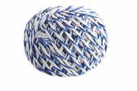 Шпагат хлопчатобумажный сине-белый клубочек 100 м