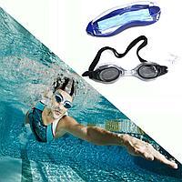 Очки для плавания с берушами с чехлом GF Sport черные 00282