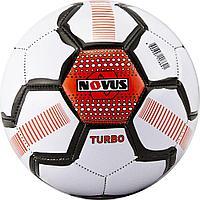 Мяч футбольный детский Novus TURBO, PVC, бел/чёрн/оранж., р.5, м/ш, 330-350г