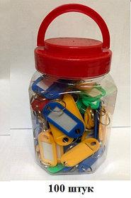 Брелок для ключей, 2x6см, пластик в упаковке 100шт