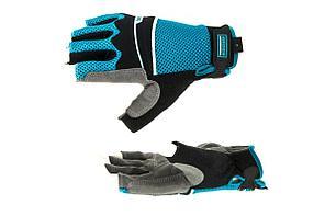 Перчатки GROSS 90316 Aktiv комбинированные облегченные, открытые пальцы. Размер L 8