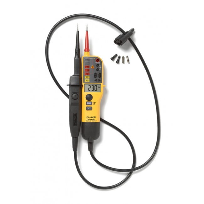 Fluke T150 - Тестер-пробник и омметр с ЖК-экраном и возможностью подключения нагрузки