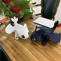 Мягкие игрушки дракон Беззубик и Дневная Фурия 30см (комплект 2 шт.) / Как приручить дракона Оригинал!