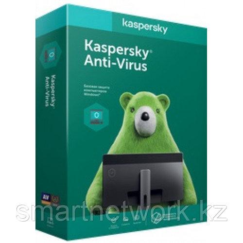 Kaspersky Anti-Virus 2 устройства 1 год - продление онлайн