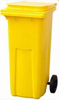 Контейнер мусорный п/э 120л. цвет желтый