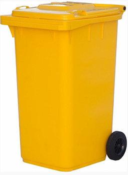 Контейнер мусорный п/э 240л. цвет желтый