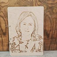 Деревянные блокноты с гравировкой фото