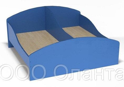 Кровать с бортами смежная для детского сада (1200х1248х510) арт. К2