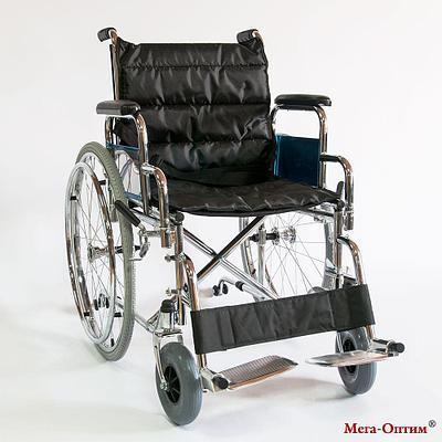Инвалидная коляска Мега-оптимFS 951 B черная, 56см