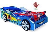 Детская кровать-машина Тачка синяя