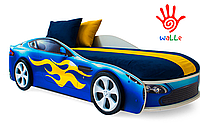 Кровать машина Бондмобиль синий