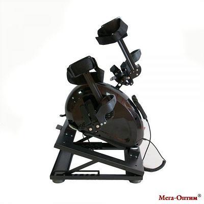 Велотренажер c электродвигателем с регулируемым основанием Mega-T150 черный