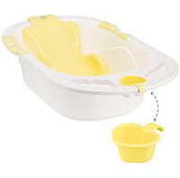 Ванна Happy baby с анатомической горкой Bath comfort Yellow