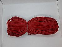 Хлопковый шнур без сердечника для вязания Красный