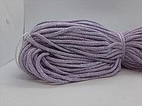 Хлопковый шнур без сердечника для вязания Меланж Бело-сиреневый