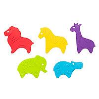 Антискользящие мини-коврики ROXY-KIDS для ванны Safari в ассортименте 5 шт