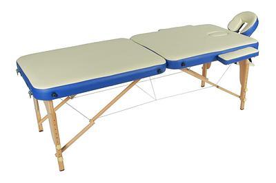 Массажный стол складной деревянный JF-AY01 2-х секционный М/К кремовый