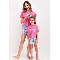 Пижама детская девичья 5-6/ 110-116 см, Розовый
