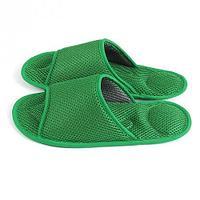 Массажные тапочки Релакс зеленые