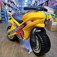 "Каталка-мотоцикл ""МХ"" желтая"
