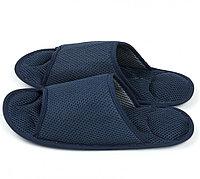 Массажные тапочки Релакс темно- синие