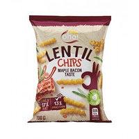 Oho чипсы из чечевицы Бекон обжаренный в кленовом сиропе, 100 гр