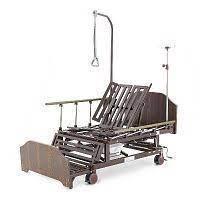 Кровать медицинская KZMED 511M-LE спинки ЛДСП, коричневый
