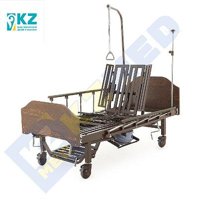 Кровать медицинская KZMED 512M-LE, коричневый