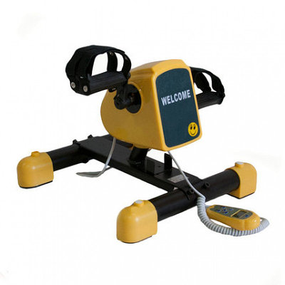 Велотренажер Мега-оптим HM-006 детский c электродвигателем, желтый/черный