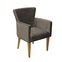 Кресло Нико цв. каркас + цвет орех (эф.дерево) (Кожзам АОД/ГОБ.Stock) коричневый