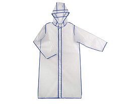 Дождевик Providence, прозрачный/синий с чехлом