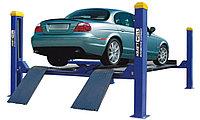 Подъемник четырехстоечный KraftWell KRW4WA_blue г/п 4000 кг. платформы для сход-развала
