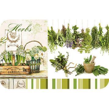 Сервировочная салфетка «Травы», размер 26 х 41 см