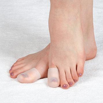 Напальчники для ног, силиконовые, пара, цвет белый