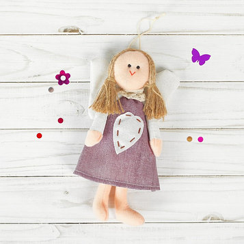 Подвеска «Ангел», кукла, сердце со стежками, цвета МИКС