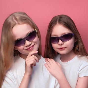 """Очки солнцезащитные детские """"Спорт"""", оправа полоса, дужки МИКС, линза сплошная, 13.5 × 12 × 4 см"""
