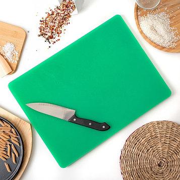 Доска разделочная 40×30 см, толщина 1,2 см, цвет зелёный