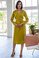 Женское летнее платье Ivera 1006 оливковый 42р.
