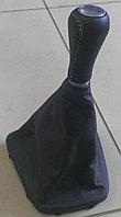 Чехол (кожух) ручки КПП (перфорированная кожа) на коробку с тросовым приводом Лада Гранта/Калина-2, фото 1