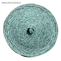 Пряжа трикотажная широкая 100м/320±15гр, ширина нити 7-9 мм (цветочки на ментоле)