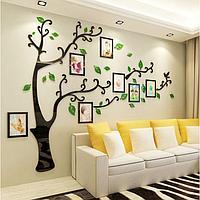 """Декор настенный с фоторамками """"Семейное дерево"""", 150 х 210 см"""