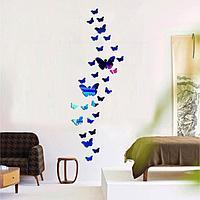 """Декор настенный """"Бабочки"""", большая 13.8 х 9 см, маленькая 4.8 х 3.1 см, 36 шт"""