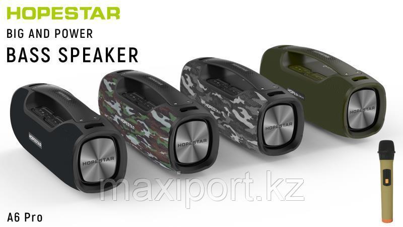 Boombox Портативная колонка Hopestar A6 Pro камуфляж с беспроводным микрофоном в комплекте!! - фото 3