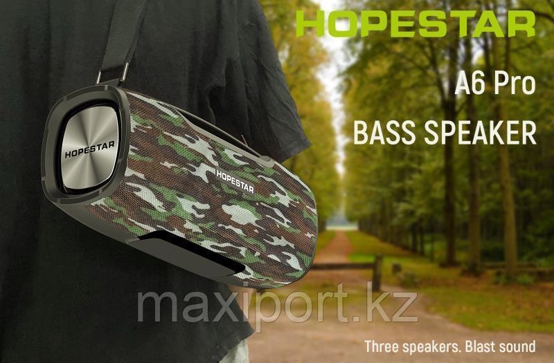 Boombox Портативная колонка Hopestar A6 Pro камуфляж с беспроводным микрофоном в комплекте!! - фото 2