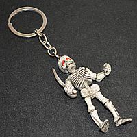 Брелок подвеска на сумку и ключи скелет с саблей 13 см