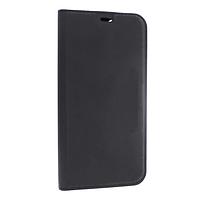 Чехол книжка Apple iPhone 12 кожа, черный