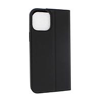 Чехол книжка Apple iPhone 12 Pro Max кожа, черный