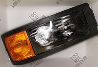 Фара передняя левая стекло F2000 DZ9100726030 Shacman