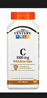 Витамин С c шиповником. 1000 мг. 110 таблеток. 21 century