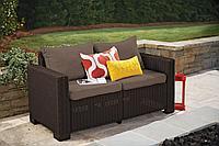 Плетеный двухместный диван из экоротанга